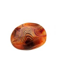 "Natural Red Banded Agate Polished Pebble 2.5-3"" (1pc) NETT"