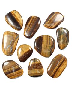 "Tiger Eye Smooth Stone 1-2"" (10pcs) NETT"