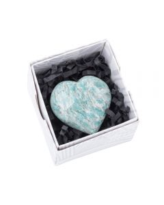 Amazonite (graphical) Heart approx. 50mm (1pc) NETT