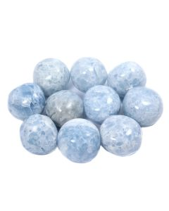 Blue Calcite 30-40mm Tumblestone Madagascar (10 Piece) NETT