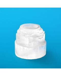 Selenite T-Light Mountain Style 90-100mm (1pc) NETT