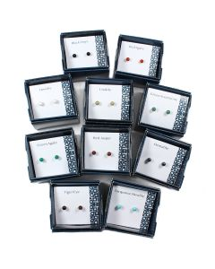 Boxed Assorted Gemstone Earstuds (10pc) NETT