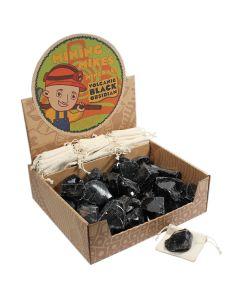 Mining Mike's Volcanic Black Obsidian Retail Box (50 Piece) NETT