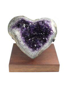 Uruguayan Amethyst Polished Heart (25x25cm 6kg) (1 Piece) SPECIAL