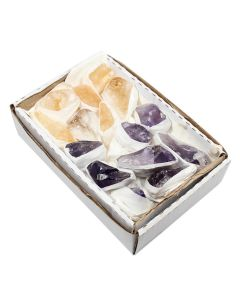 Small Flat (15x11cm) Amethyst and Citrine (1 Piece) NETT