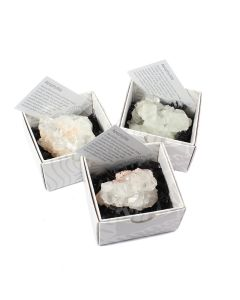 Apophyllite Cluster Gift Boxed with ID Card (9 Piece) NETT