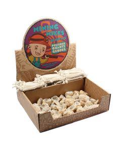 Mining Mike's Polished Quartz Geode Retail Box (50 Piece) NETT