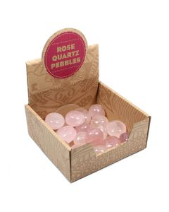Rose Quartz Pebbles Retail Box (20 Piece) NETT