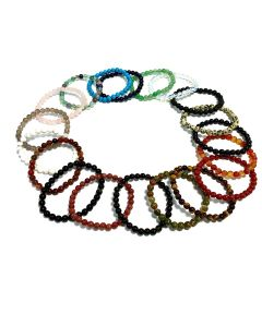 Assorted 6mm Bead Bracelet (20pieces) NETT