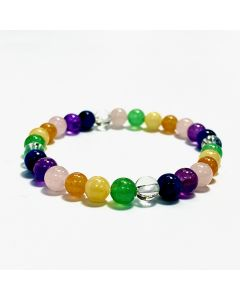 Chakra Rainbow Colour 6mm Bead Bracelet (20pieces) NETT