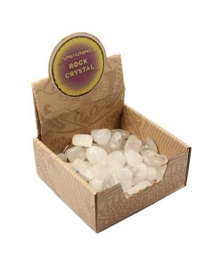 Rock Crystal Tumblestone Retail Box (50 Piece) NETT