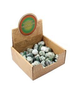 Tree Agate Tumblestone Retail Box (50pcs) NETT