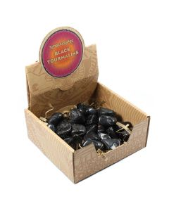 Black Tourmaline Tumblestone Retail Box (25pc) NETT