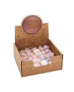 Rose Quartz Aura Tumblestone Retail Box (25pc) NETT
