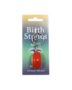 ARIES Birthstone Keyring (6 Piece) (Red Jasper) NETT