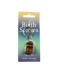 LEO Birthstone Keyring (6 Piece) (Tiger Eye) NETT