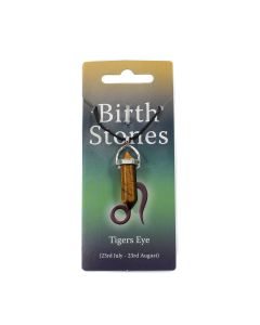 Leo, Tiger Eye Birthstone Pendant on Thong (10pcs) NETT