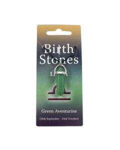 Libra, Green Aventurine Birthstone Pendant on Thong (10pcs) NETT