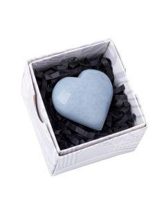 Angelite Heart Peru Gift Boxed Small (1pc) Nett