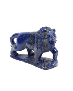 """Lapis Lion Carving With Base 4.25"""" (1 Piece) SPECIAL"""