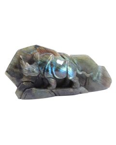 "Labradorite Rhino Carving (5.5x1x3"") (1 Piece) SPECIAL"