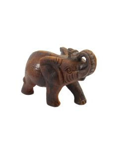 "Tiger Eye Elephant Carving Textured (3"") (1 Piece) SPECIAL"