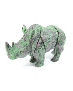 "Ruby Zoisite Rhino Carving (5"") (1 Piece) SPECIAL"