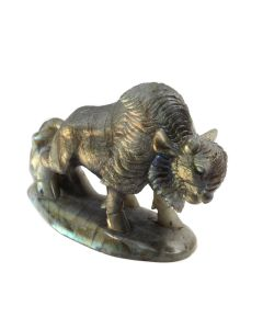 "Labradorite Bison Carving With Base 4.5"" (1 Piece) SPECIAL"