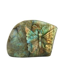 """Labradorite Butterfly Relief 3""""x0.5""""x2.5"""" SPECIAL"""
