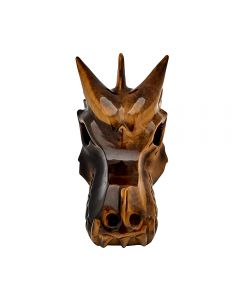 "Tiger Eye Dragon Head Carving 6.25"" SPECIAL"