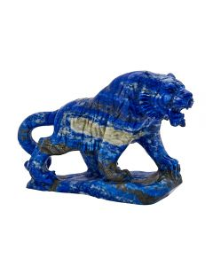 "Lapis Tiger Carving w/Base 3""x1.15""x2.5"" SPECIAL"