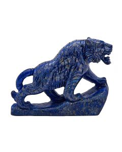 "Lapis Tiger Carving w/Base 4.25""x1.25""x3.2"" SPECIAL"