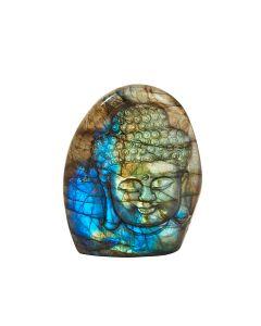 "Labradorite Tathagata Budha Head Relief Carving 2.25"" x 1.75"" SPECIAL"