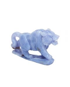 """Blue Lace Agate Tiger Carving w/Base 3.75 x 0.75 x 2.15"""" SPECIAL"""