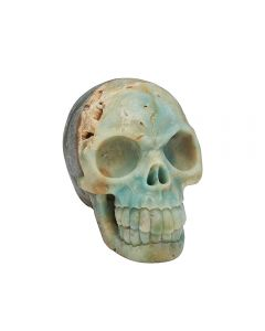 """Amazonite Skull Carving 5 X 4 X 2.5"""" SPECIAL"""