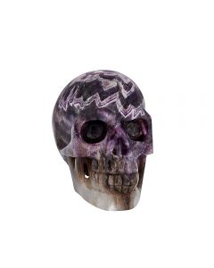 """Amethyst Geode Skull Carving 5 x 4 x 3.5"""" SPECIAL"""