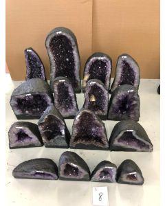Amethyst Geode Crate (16pcs) 272.05kg £10.39/kg NETT
