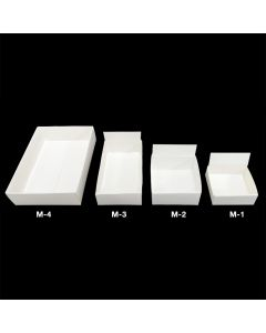 M-4 White Fold Up Box 102x76x32mm (100pcs)