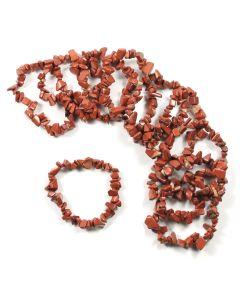 Red Jasper chip bracelet (10pc)