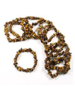Tiger Eye chip bracelet (10pc)