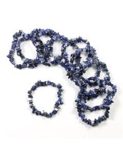 Sodalite chip bracelet (10pc)