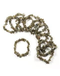 Labradorite chip bracelet (10pc)