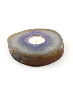 Agate Slab T-Light Holder Purple (1 Piece) NETT