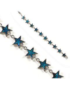 Bracelet Blue Abalone Star Braclet (12pc)
