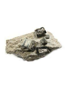 """Pyrite Cubes in Matrix 6-7"""" Navajas Spain (1 piece)"""