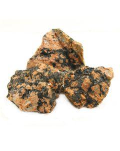 """Luxullianite w Tourmaline Rough (2-4"""") (1kg) (Cornwall) (WAS £10 NOW £5)NETT"""