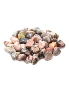 Agate Pink (250g) 20-30mm Med tumble