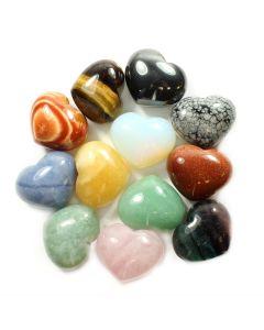 Gemstone Puff Hearts 25x30mm (12pcs) NETT