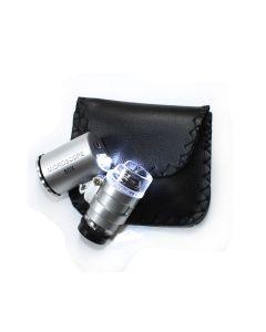 LED pocket microscope 60x LED and UV lamp (1pc) NETT
