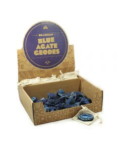 Mining Mike's Blue Agate Geode Retail Box (50pcs) NETT